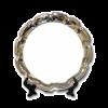 """Тарелка металлическая с пластиной для сублимации, волнистый край 10"""""""