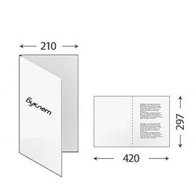Буклет 420*297 (1 фальц)